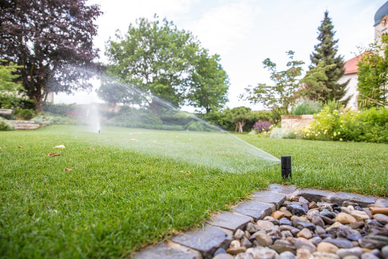 Bewässerung mit Rasensprenger